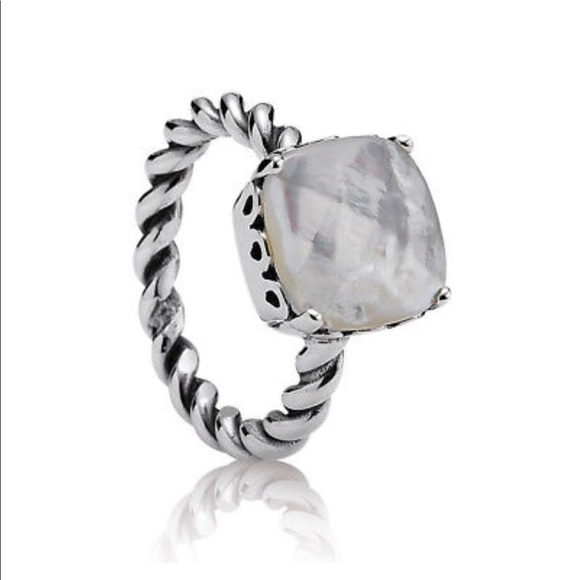 5b43ed774 Pandora Jewelry | Mother Of Pearl Mop Ring Authentic | Poshmark
